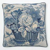 Blue and white basket   Design Kaffe Fassett