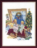 Børn i julevindue