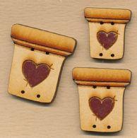 3 urtepotter med hjerte