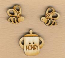 2 bier og en honningkrukke