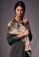 Silketørklæde, ca. 85 x 190 cm