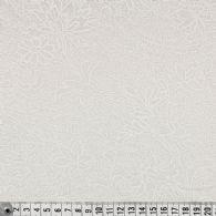 Hvidt blomstermønster på hvidt
