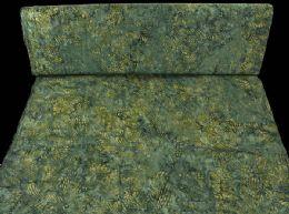 Bali blågrøn med lys oliven mønster