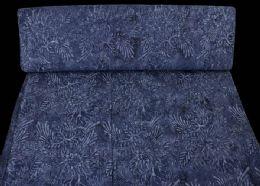 Blå blomst-blad mønster