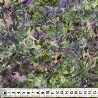 Støvet olivengrøn og lilla.