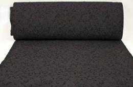 Kokssort med sort snirklet bladmønster