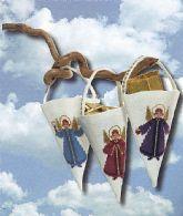 3 kræmmerhuse med engle
