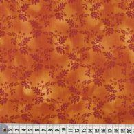 Meleret orange bund med bladmønster
