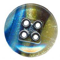 Blå-grøn 4-hul knap