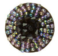 Perlebesat knap, 32 mm