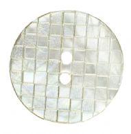 Lys perlemor i ternmønster, 23 mm