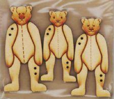 3 stående bamser